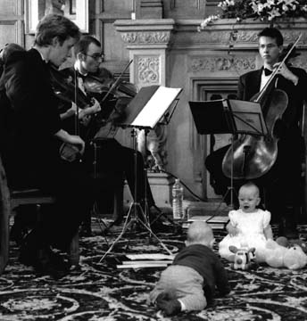 Live music at a baby naming ceremony