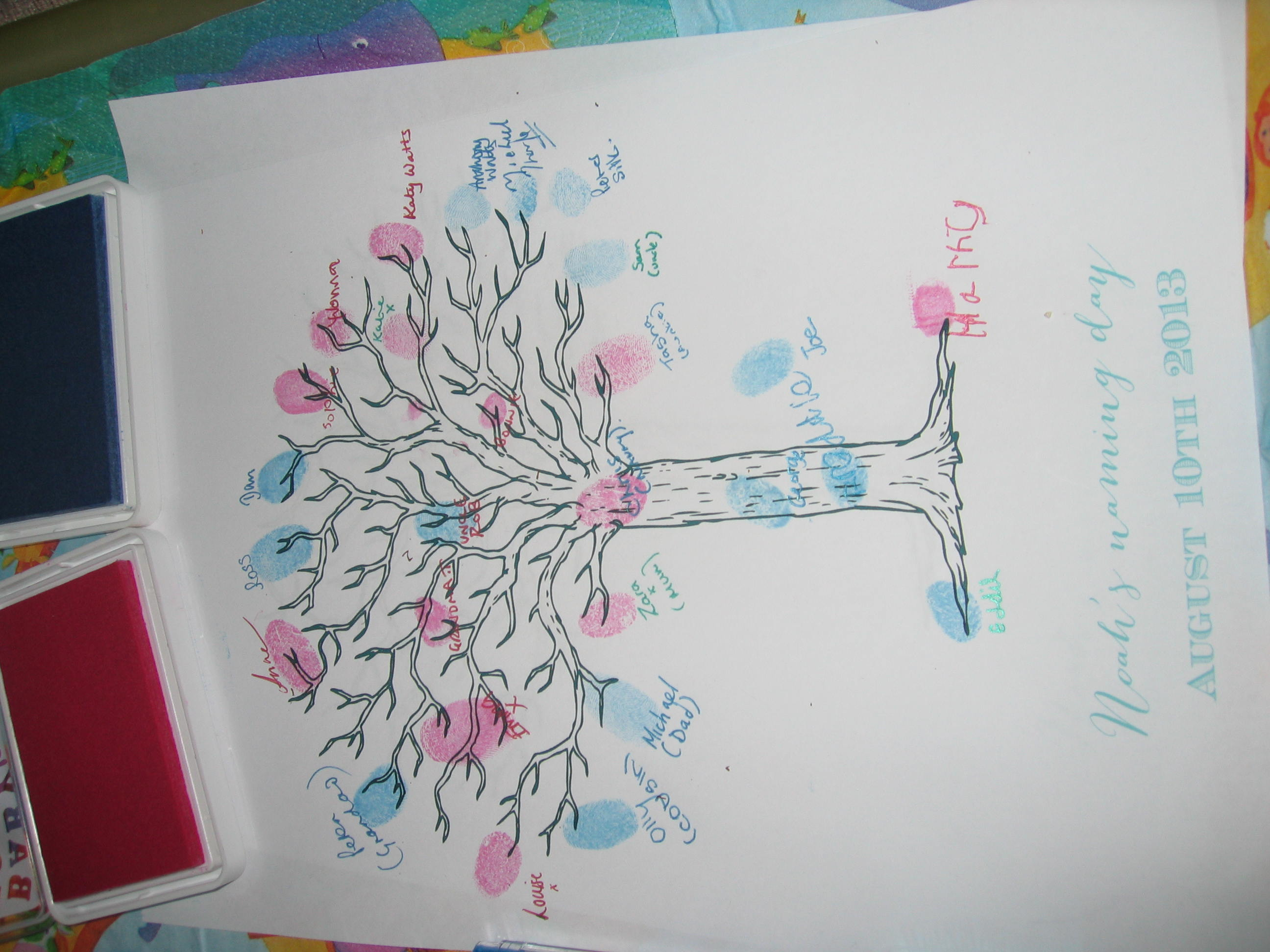 Thumbprint Tree for baby naming guests