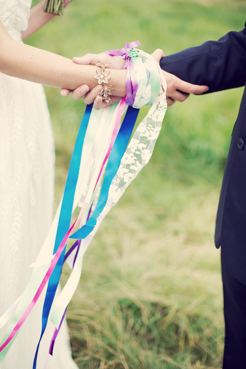 Hand fasting by celebrant Katie Deverell
