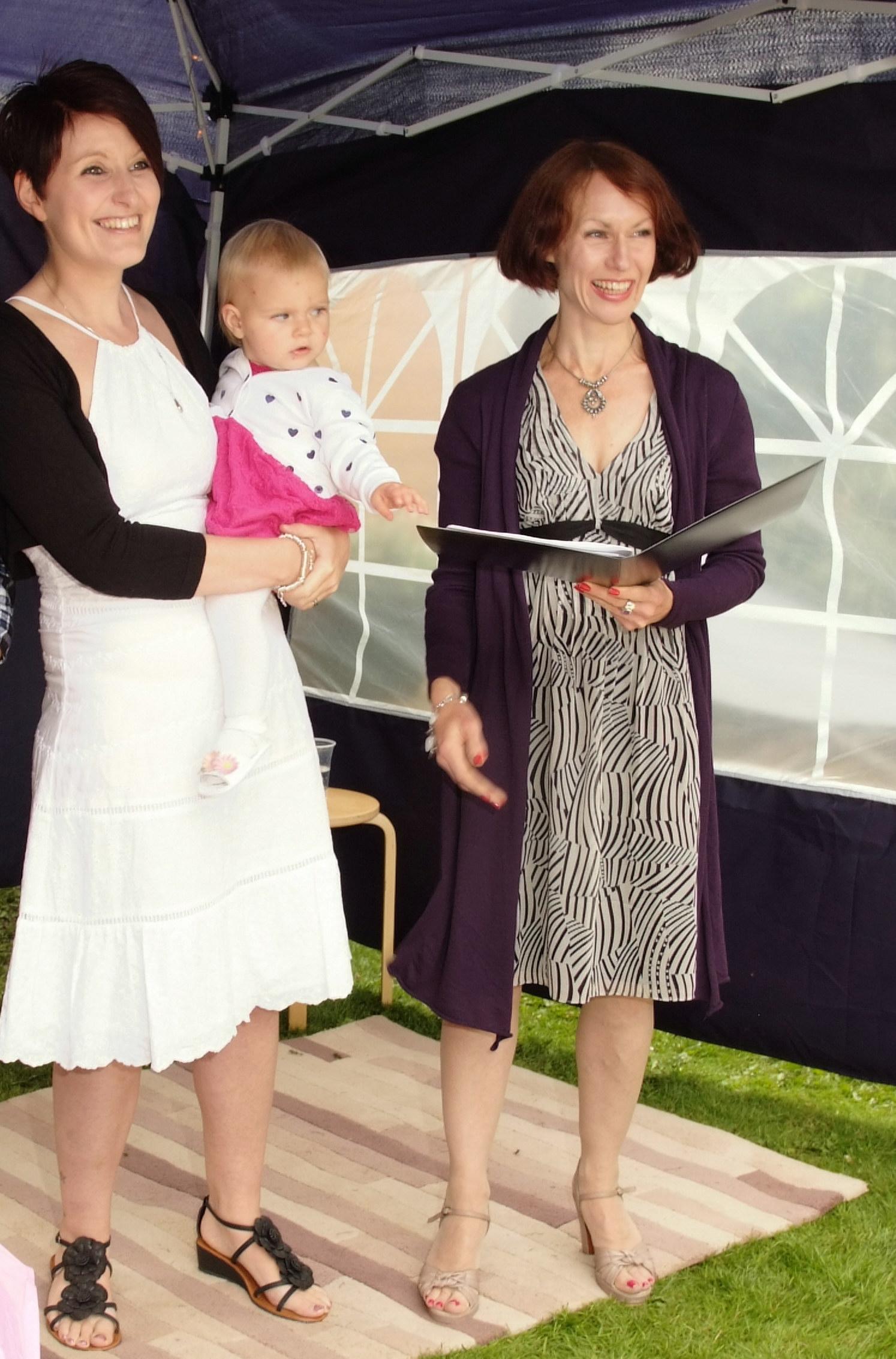 Baby Naming Ceremonies in your own home or garden Essex